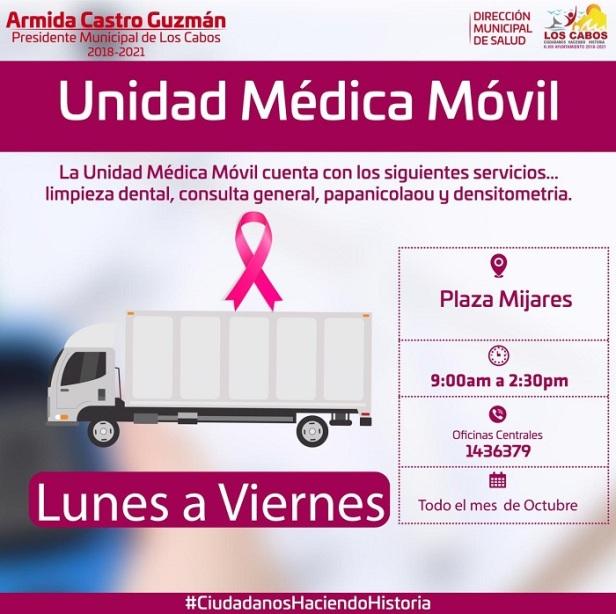 02 Durante Octubre la Unidad Médica Móvil estará en la Plaza Antonio Mijares  .jpeg