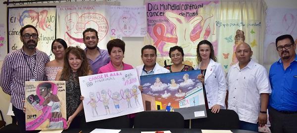 03 Con gran participación se realiza el concurso de Cartel de Sensibilización sobre el Cancer de Mama