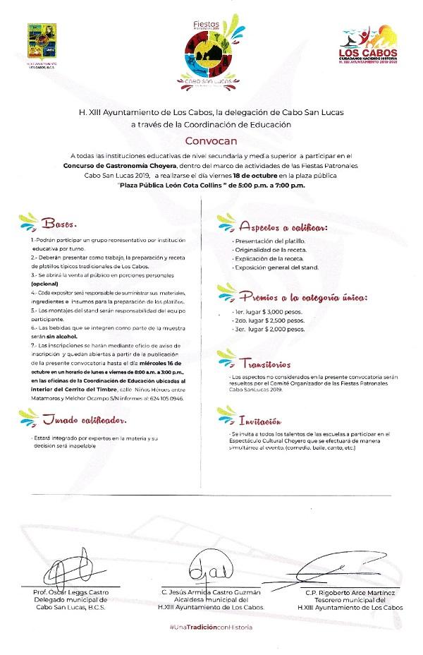 05 Gobierno Municipal te invita a participar en el Concurso de Gastronomía Choyera