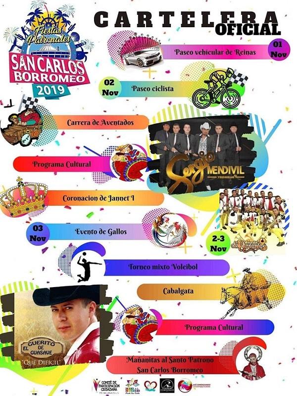 Del 1 al 3 de noviembre las Fiestas Patronales de San Carlos Borromeo 2019