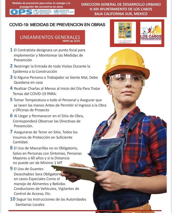 05 Se reactivará la industria de la construcción en el municipio de Los Cabos, a partir del primero de junio 1