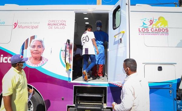 """02 Continúa la """"Caravana de Salud Municipal"""" recorriendo las colonias de Los Cabos 2"""