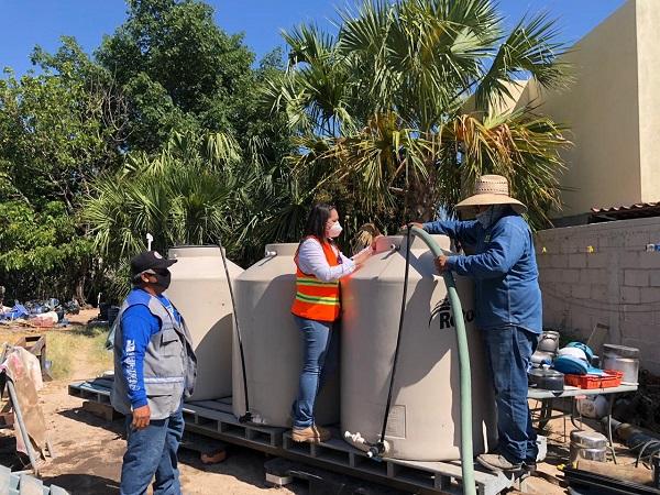 Continúa apoyando OOMSAPAS La Paz con el suministro de agua en pipas a colonias que han contado con bajas presiones (3)