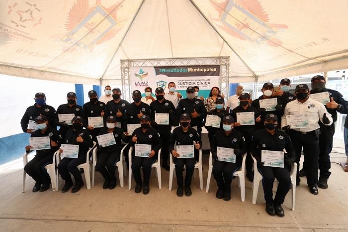 CERTIFICAN POLICÍAS MUNICIPALES EN EL SISTEMA DE JUSTICIA CÍVICA 2